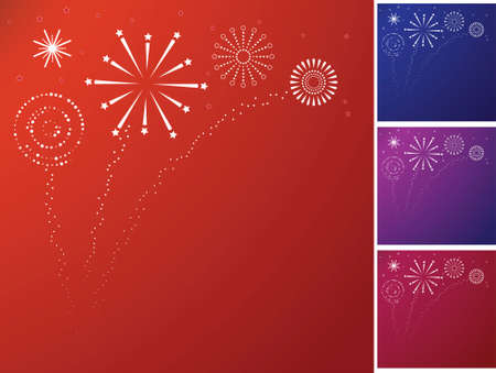 fawkes: Graphical Style Firework Bursts and sparkles  Illustration