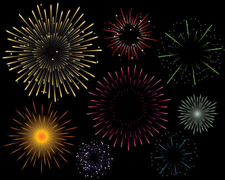 fawkes: Variety of seven firework explosion vectors