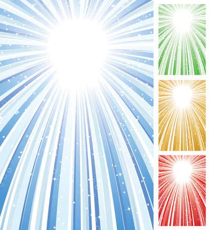 Burst of Light Vector in Four Colors Vettoriali