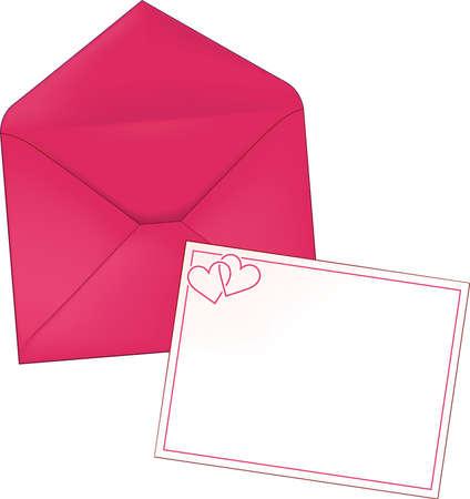 Hart Valentine briefpapier envelop en brief