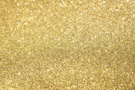Gold Glitter Selective Focus photo