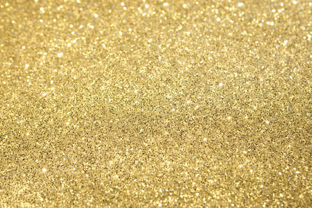 Gold Glitter Selective Focus Stock Photo