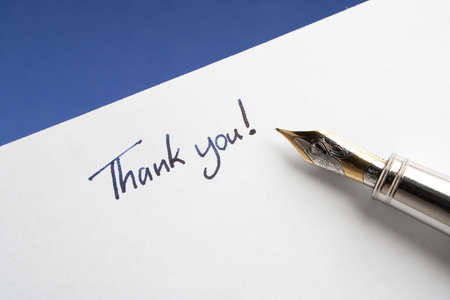 message: Fountain Pen with Thank You Note