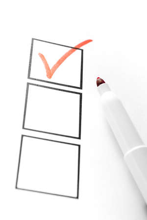 checklist: Red Marker with Check Box