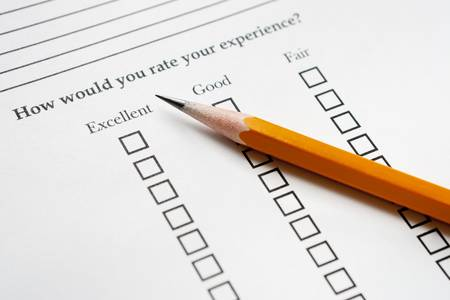 Pencil on Survey Stock Photo