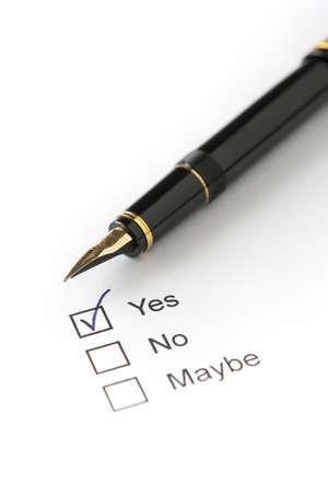 Fountain Pen on Survey