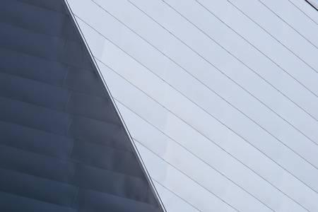 titanium: Titanium Panel Wall Viewed from Angle