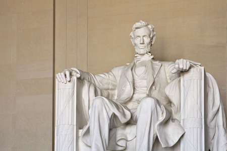 Abraham Lincoln Memorial in Washing DC United States