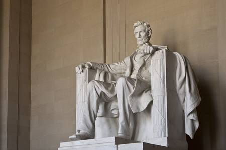 Abraham Lincoln Memorial in Washing DC United States photo