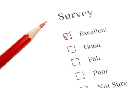Survey Questionnaire with Red Pencil and Check Mark Stock Photo - 6197481