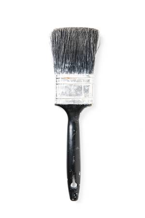 Paintbrush Isolated on White. Focus on entire object. Stok Fotoğraf