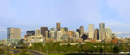 Denver Colorado Skyline Spring 2010 스톡 콘텐츠
