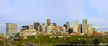 denver skyline: Denver Colorado Skyline Spring 2010 Stock Photo