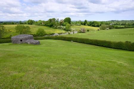 New Grange Burial Mound en grasland