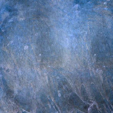 グランジ金属表面傷および汚れのスポット。青とグレーの色。