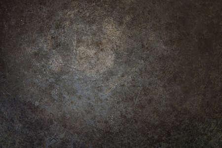 oxidado: Superficie de metal de grunge herrumbre con vignette.