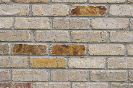 Vintage style brick wall. Focus across entire surface.