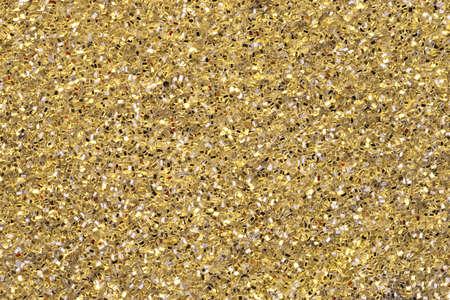 ゴールドラメ黄色い背景の平面図です。全体の表面を横切って集中します。 写真素材 - 7351299