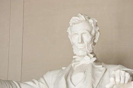 ワシントン DC のリンカーン記念館。顔に焦点を当てます。 写真素材
