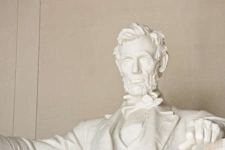 Lincoln Memorial in Washington DC. Focus on face.