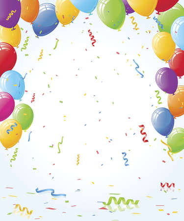 red balloons: Party Vector Celebration Layout