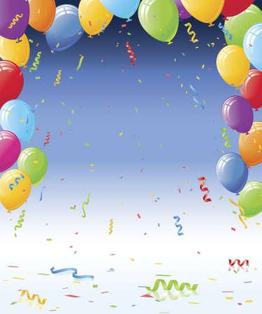 党気球と紙吹雪ベクトル