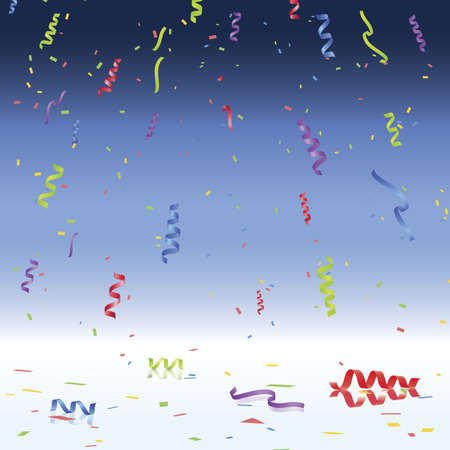 Party Vector with Confetti Illustration