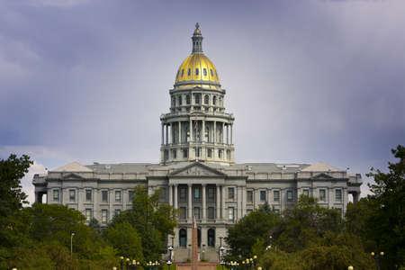 Denver Capitol Summer 2010 with dark clouds behind