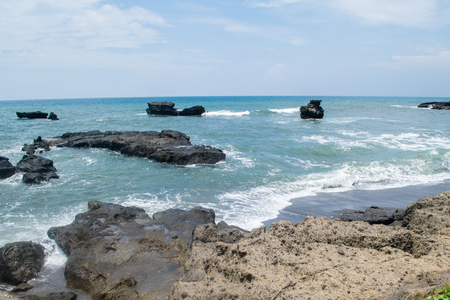 the surge: beautiful scenery: coastline with big surge from your dream travel Stock Photo