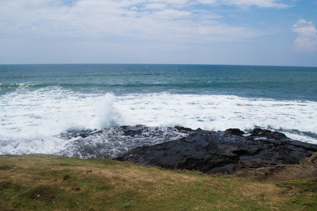 surge: great scenery: coastline with huge surge from your dream tour