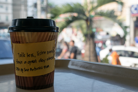 good wishes: Best morning begins with a cup of coffee and good wishes