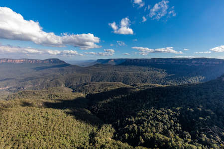 The Three Sisters From Around Echo Point, Blue Mountains National Park, NSW, Australia Archivio Fotografico