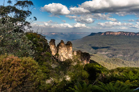 The Three Sisters From Around Echo Point, Blue Mountains National Park, NSW, Australia Stock fotó