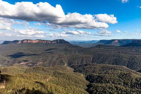 The Three Sisters From Around Echo Point, Blue Mountains National Park, NSW, Australia Foto de archivo