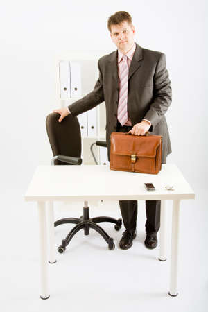 A young business man in modern office photo