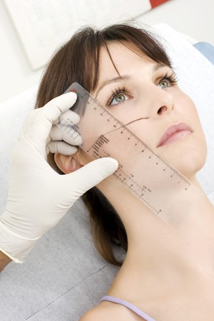 cosmetic surgery: woman Stock Photo