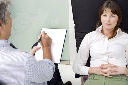 psychiatrist with patient Stock Photo - 7039355