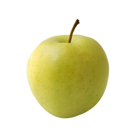 pomme jaune: une pomme jaune Banque d'images
