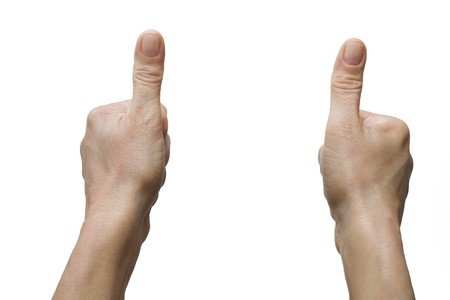 two hands with thumb up Stock Photo - 7716158