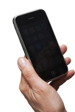hand holding phone Stock Photo - 7608734