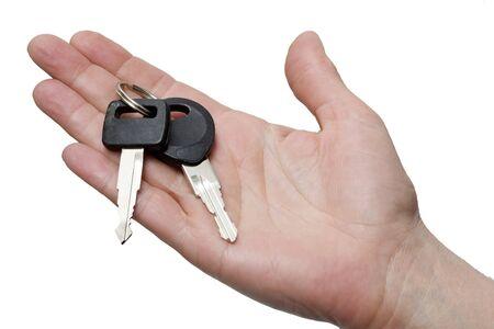 hand holding keys photo