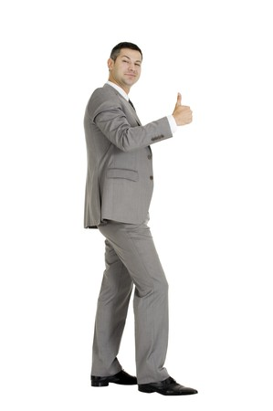 businessman with thumb up Stock Photo - 8222609