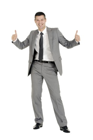 businessman with thumb up Stock Photo - 8222635