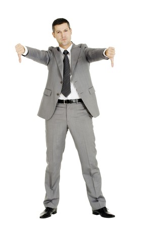 businessman with thumbs down Stock Photo - 8222660