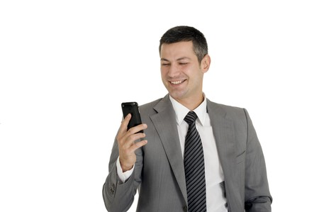 careerist: businessman with mobile phone
