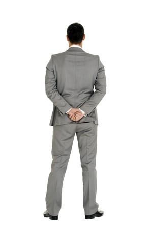 men back: businessman behind Stock Photo