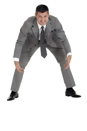 businessman makes an effort Stock Photo - 8222652