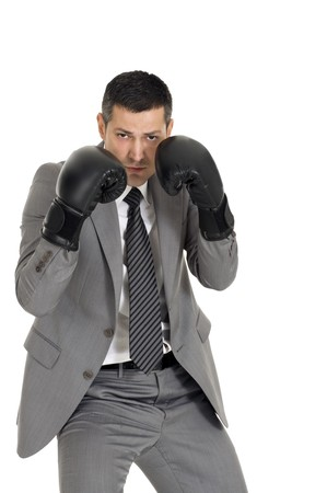 businessman with boxing gloves Stock Photo - 8222704