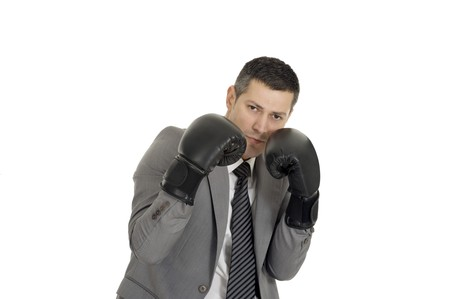 businessman with boxing gloves Stock Photo - 8222672