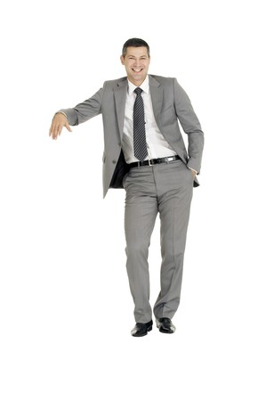 businessman with stand Stock Photo - 8222607